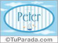 Peter - Nombre decorativo