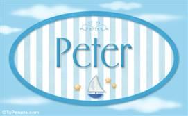Peter - Nombre decorativo