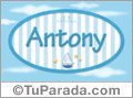 Antony - Nombre decorativo