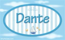 Dante - Nombre decorativo