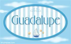 Guadalupe - Nombre decorativo