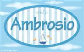 Ambrosio - Nombre decorativo