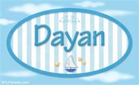 Dayan - Nombre decorativo