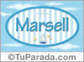 Marsell - Nombre decorativo