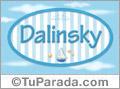 Dalinsky - Nombre decorativo