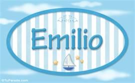 Emilio - Nombre decorativo