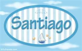 Santiago - Nombre decorativo