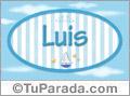 Luis - Nombre decorativo