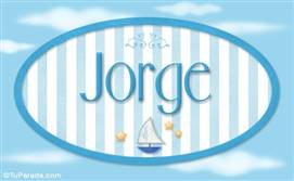 Jorge - Nombre decorativo