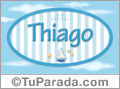 Thiago - Nombre decorativo