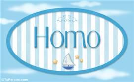 Homo - Nombre decorativo