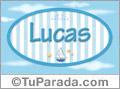 Lucas - Nombre decorativo