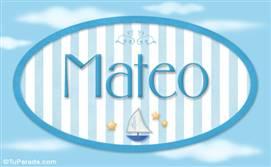 Mateo - Nombre decorativo