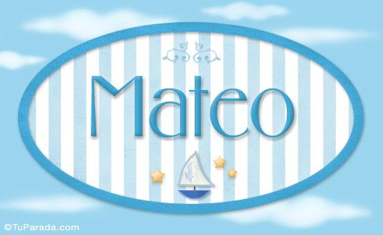 Mateo - Nombre Decorativo - Ni U00f1os