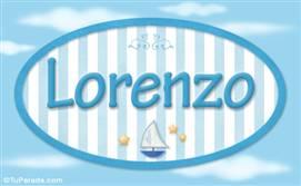 Lorenzo - Nombre decorativo