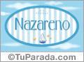 Nazareno - Nombre decorativo