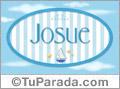 Josue - Nombre decorativo