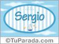 Sergio - Nombre decorativo