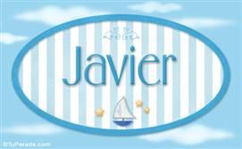 Javier -Nombre decorativo