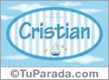 Cristian - Nombre decorativo