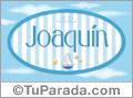 Joaquín, nombre de bebé, nombre de niño