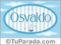 Nombre Nombre Osvaldo de bebé, para imprimir