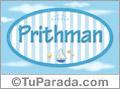 Pritham, nombre de bebé, nombre de niño