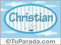 Christian, nombre de bebé, nombre de niño