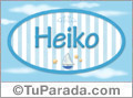 Heiko, nombre de bebé, nombre de niño