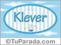 Klever, nombre de bebé, nombre de niño
