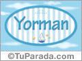 Yorman, nombre de bebé, nombre de niño