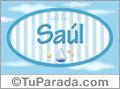 Nombre Nombre Saúl de bebé, para imprimir