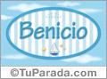 Nombre Nombre Benicio de bebé, para imprimir