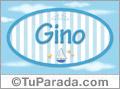Nombre Nombre Gino de bebé, para imprimir
