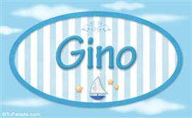 Gino, nombre de bebé, nombre de niño