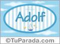 Adolf, nombre de bebé, nombre de niño