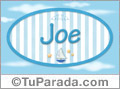 Joe, nombre de bebé, nombre de niño