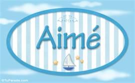Aimé, nombre de bebé, nombre de niño