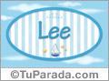 Lee, nombre de bebé, nombre de niño