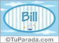 Nombre Nombre Bill de bebé, para imprimir