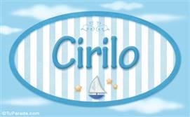 Cirilo, nombre de bebé, nombre de niño