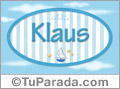 Klaus, nombre de bebé, nombre de niño