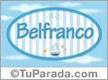 Nombre Nombre Belfranco de bebé, para imprimir