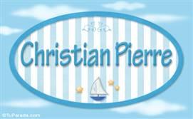 Christian Pierre, nombre de bebé, nombre de niño