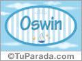 Nombre Nombre Oswin de bebé, para imprimir