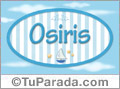 Osiris, nombre de bebé, nombre de niño