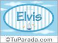 Nombre Nombre Elvis de bebé, para imprimir
