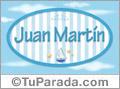 Juan Martín, nombre de bebé, nombre de niño