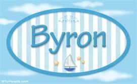 Byron, nombre de bebé, nombre de niño