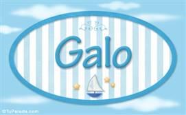 Galo, nombre de bebé, nombre de niño